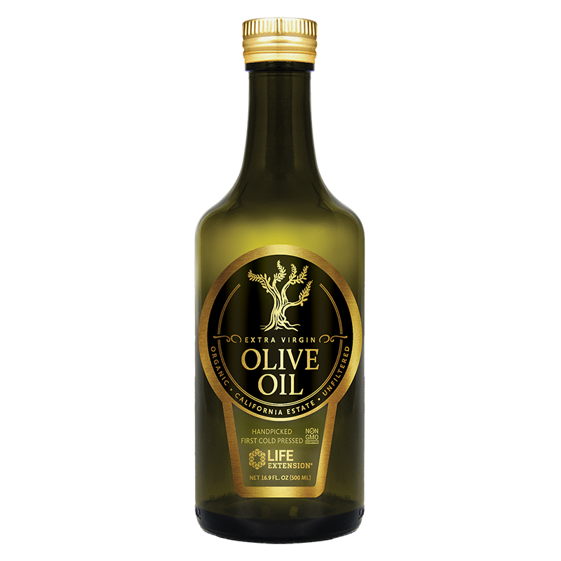 Life Extension California Estate Organic Extra Virgin Olive Oil, 500 ml of organically grown, great-tasting olive oil