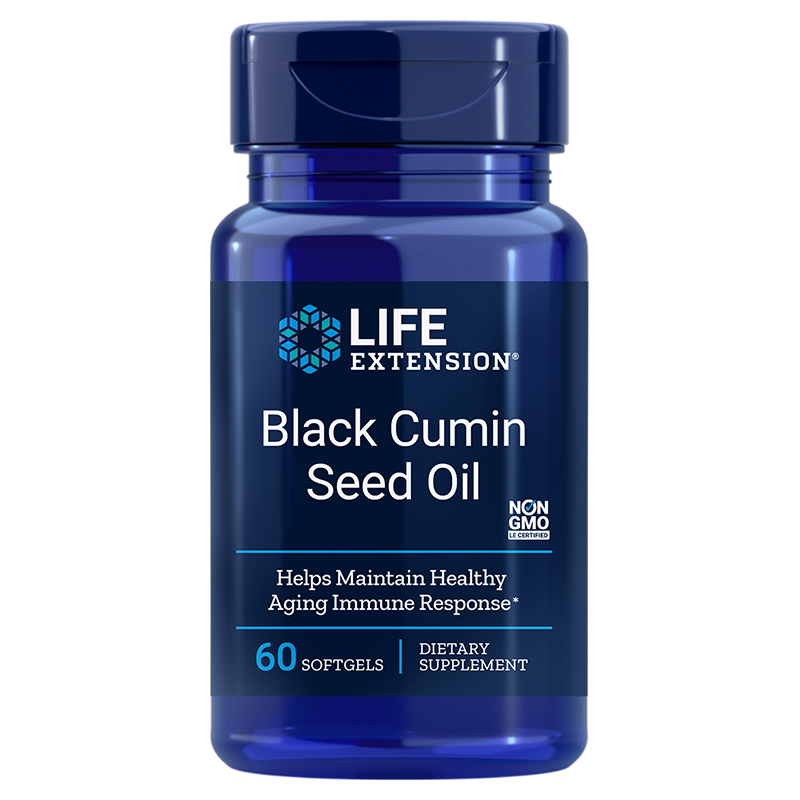 Life Extension Black Cumin Seed Oil, 60 softgels for immune support & healthy inflammatory response