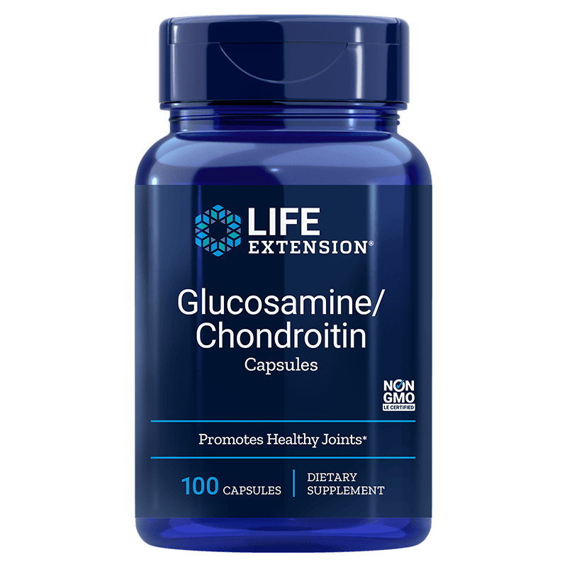 Life Extension supplement Glucosamine/Chondroitin, 100 capsules for healthy joints and cartilage