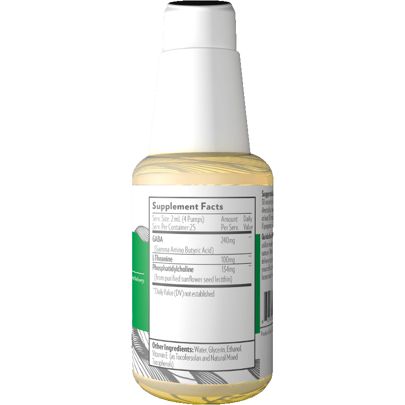 Life Extension Liposomal GABA with L-Theanine, supplement facts