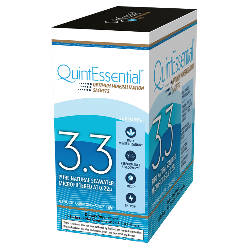 Life Extension QuintEssential® Hypertonic Elixir 3.3, 30 sachets to hydrate with natural seawater electrolytes